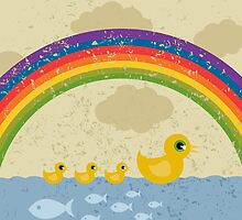 Ducks under a rainbow by Aleksander1