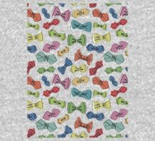 Fun dow tie pattern. Cartoon hipsters style Kids Clothes