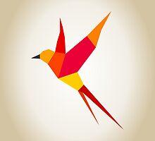 Red bird by Aleksander1
