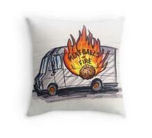 Meatballs of Fire Throw Pillow