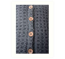 Knitted pattern and buttons Art Print