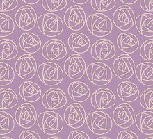 Rose doodle - lavender by ixie