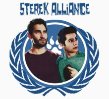 The Ultimate Sterek Alliance Blue T-Shirt [Back] by thescudders