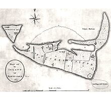 Vintage Map of Nantucket (1782) Photographic Print