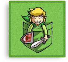 Happy Pocket Link Legend of Zelda T-shirt Canvas Print