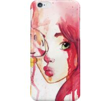 rabbit and the girl iPhone Case/Skin