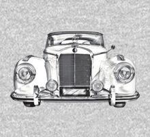 Mercedes Benz 300 Luxury Car Illustration Kids Clothes