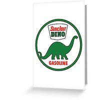Sinclair Dino Gasoline sign. Clean version Greeting Card