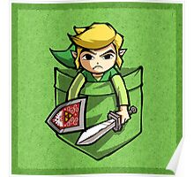 Pocket Link Legend of Zelda T-shirt Poster