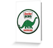 Sinclair Dino Gasoline vintage sign distressed Greeting Card