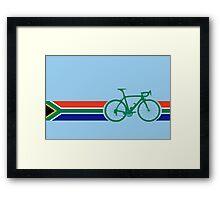 Bike Stripes South Africa Framed Print