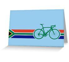 Bike Stripes South Africa Greeting Card