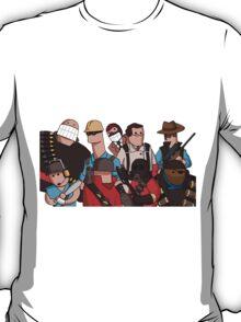 Team Fortress 2 - Cartoonified Team Design T-Shirt
