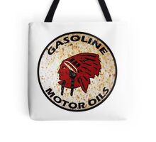 Red Indian Gasoline vintage sign reproduction rusted vers. Tote Bag