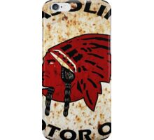 Red Indian Gasoline vintage sign reproduction rusted vers. iPhone Case/Skin