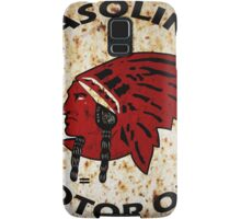 Red Indian Gasoline vintage sign reproduction rusted vers. Samsung Galaxy Case/Skin