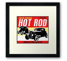 Hot Rod - Classic American Sports Car Framed Print