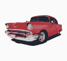 Chevy Bel Air 57 vector illustration by htrdesigns