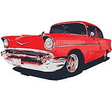 Chevy Bel Air 57 vector illustration Photographic Print