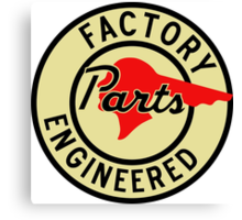 Pontiac Factory Parts vintage sign reproduction Canvas Print