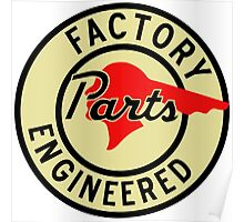 Pontiac Factory Parts vintage sign reproduction Poster