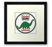 Sinclair Dino Gasoline vintage sign flat version Framed Print