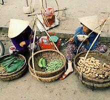 Vegetable Sellers Vietnam by karlmagee