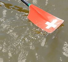 Swiss rowing oar by stuwdamdorp