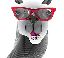 Hipster Llama Design by William Middleton