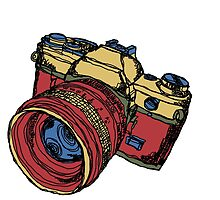 Classic 35mm SLR Camera in Fall Colors by strayfoto