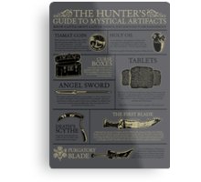 The Hunters Guide to Mystical Artifacts Metal Print