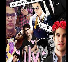 Darren Criss Tumblr Collage  by Kaylibella