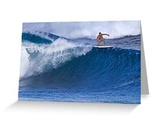 Surfer At Banzai Pipeline 2011 Greeting Card