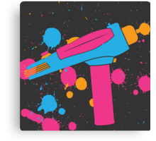 Phaser Paint Splatter (Full Color) Canvas Print