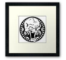 Skull Revolver Framed Print