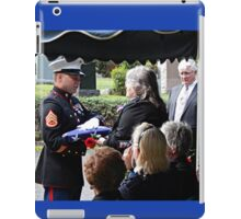 Thanking Your Father For His Service iPad Case/Skin