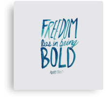 Robert Frost: Freedom Canvas Print