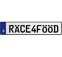 Euro Plate - RACE4FOOD Photographic Print