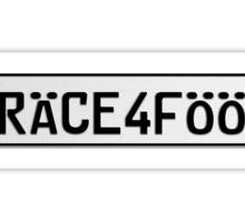 Euro Plate - RACE4FOOD Sticker