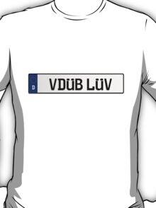 Euro Plate - VDUB LUV T-Shirt