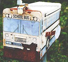Old Rustic Schoolbus Mailbox  by AlySmyphoto1