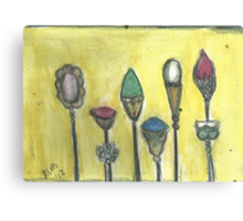 And Pretty HatPins All In A Row.. Canvas Print