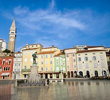 Tartini square in Piran, Slovenia by avresa