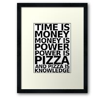 Time is money - parks and recreation quote Framed Print