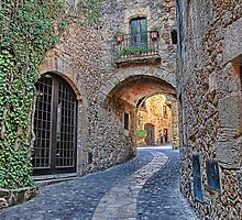 Spanish Medieval Town by Sue Martin