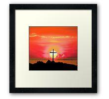 Sunset Cross Framed Print