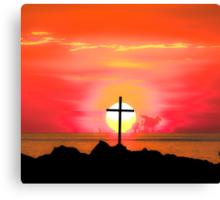 Sunset Cross Canvas Print