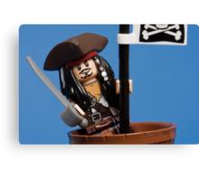 Lego Captain Jack Sparrow Canvas Print