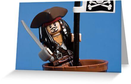 Lego Captain Jack Sparrow by Kevin  Poulton - aka 'Sad Old Biker'