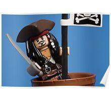 Lego Captain Jack Sparrow Poster
